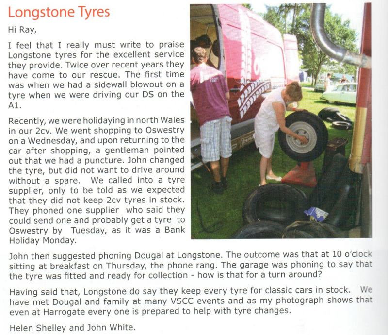 Longstone Tyres Article