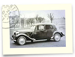 Citroën Traction Avant monté en 165 SR 400 Michelin X